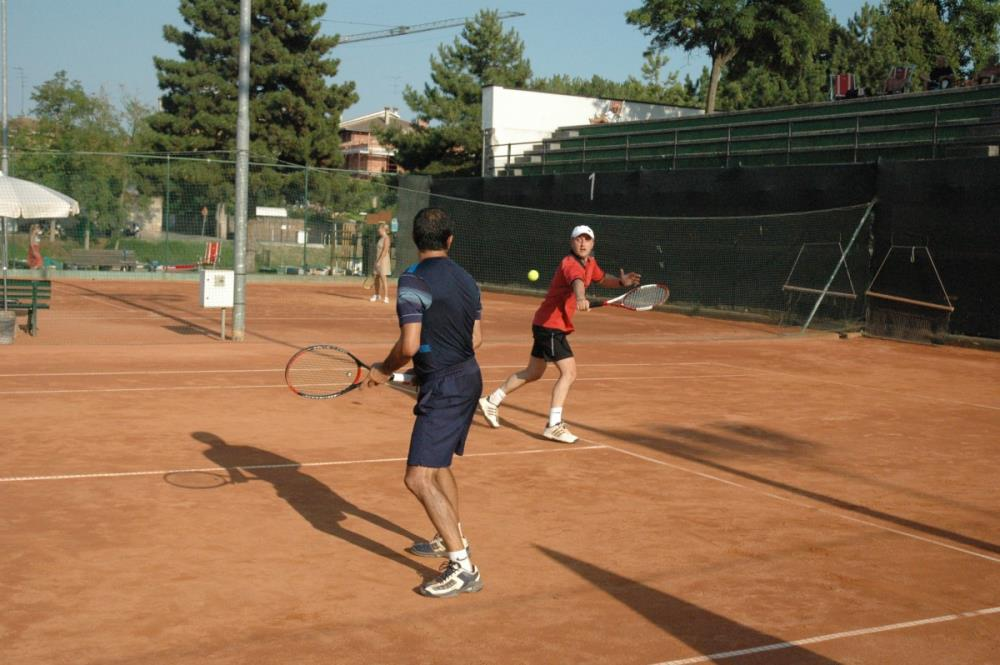 Tennis - I secondi; Giovannini (Red) e Macina (Bl)